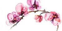 Art-Deco-Watercolor-Flowers