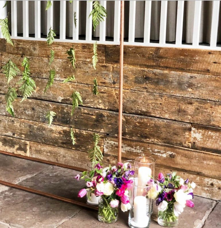 wedding flowers and wood