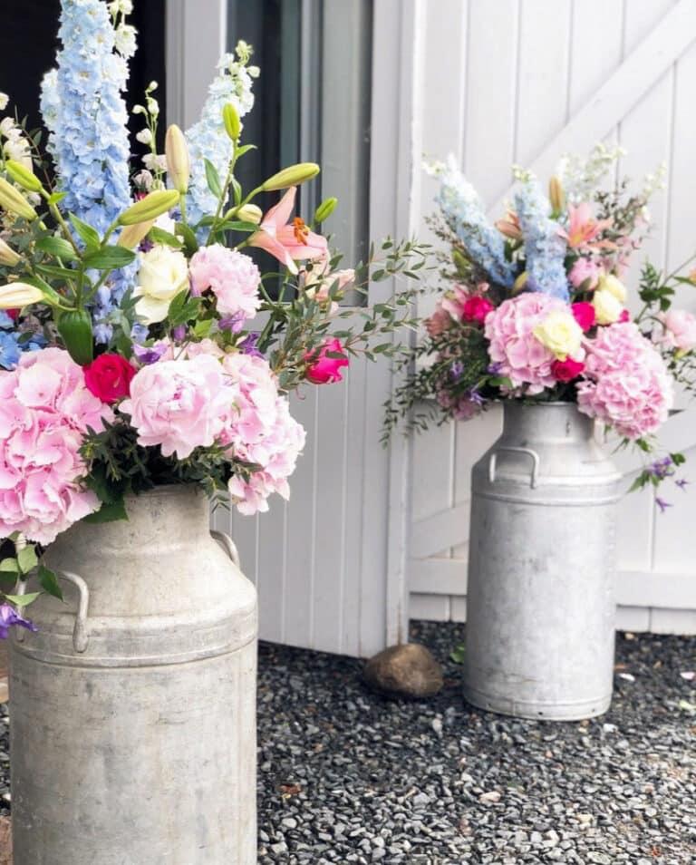 Wedding Flowers at Barn Venue
